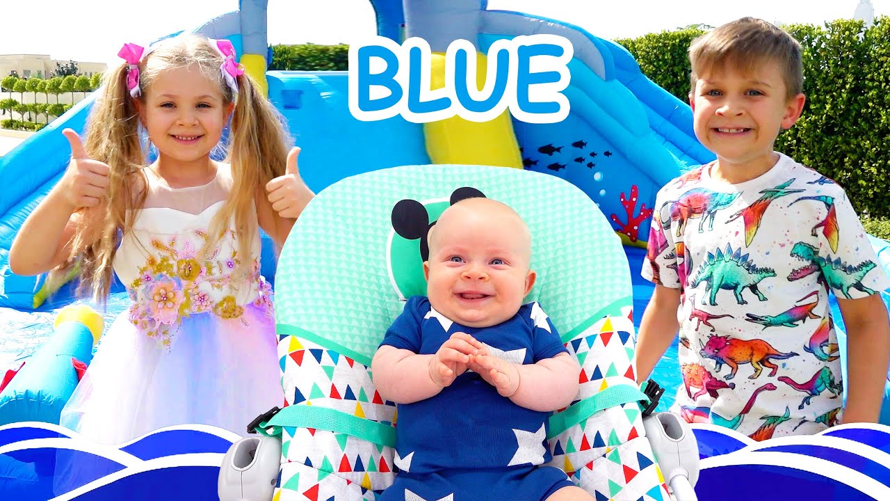 Кидс Рома Шоу — Roma and Diana learn colors with baby Oliver / Funny videos for kids