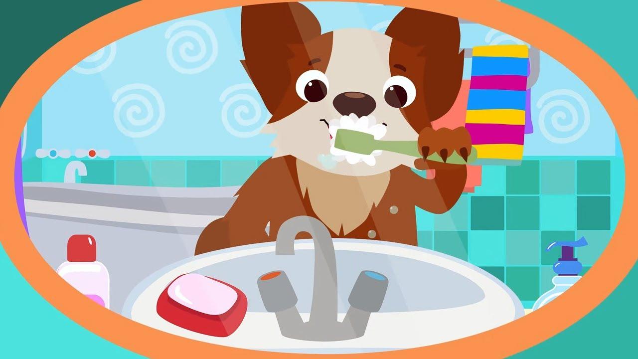 КОТЭ ТВ — Зубки + Купаемся — Песенки для  детей и малышей как надо чистить зубки!