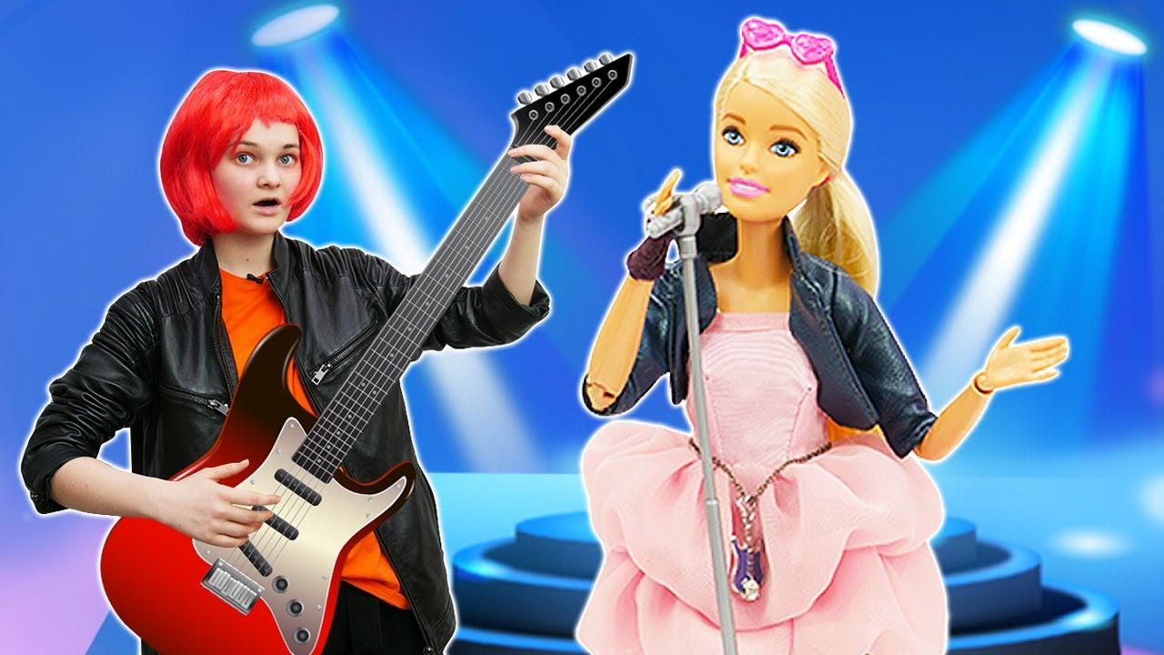 Лучшие Подружки — Кукла БАРБИ — Рок Звезда! Новый образ Barbie! — Видео игры одевалки для девочек. Смешные видео куклы