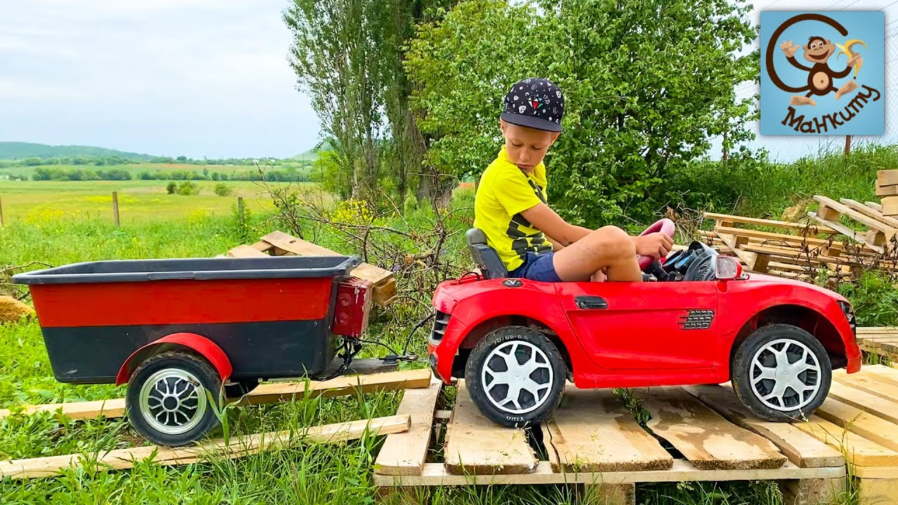Манкиту — Дети и Машина. Диана и Даня, Милан строят гараж для машин. Манкиту