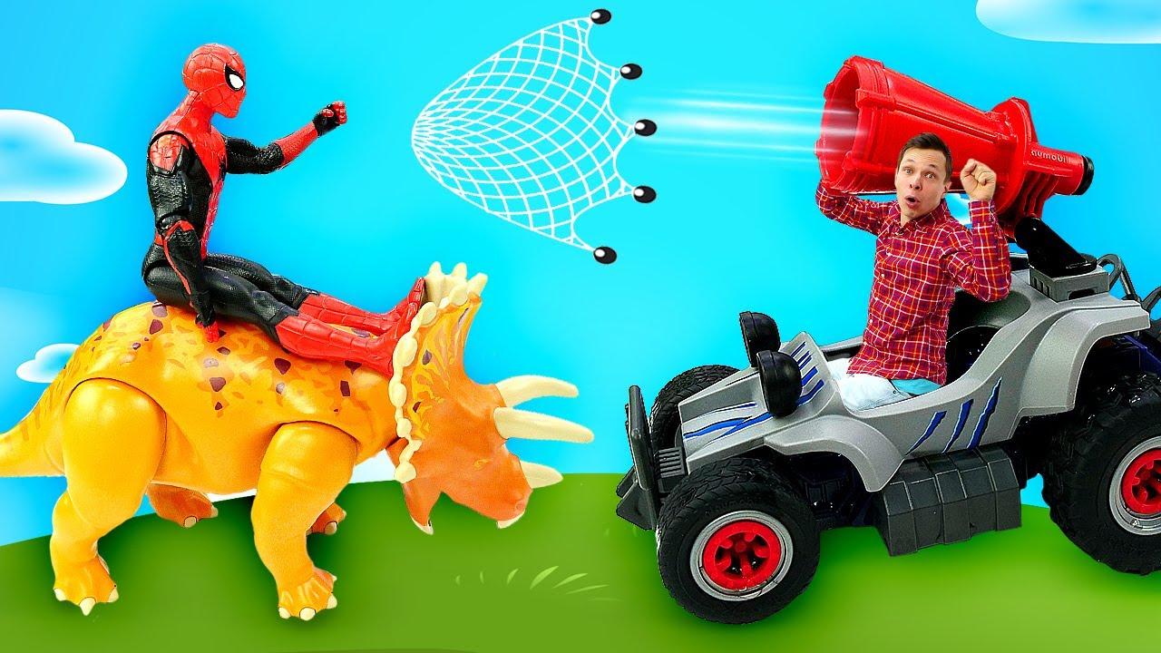 ПАПА тайм — Человек Паук в видео шоу – Новые машинки для Супергероев! – Спайдермен и игры гонки для мальчиков