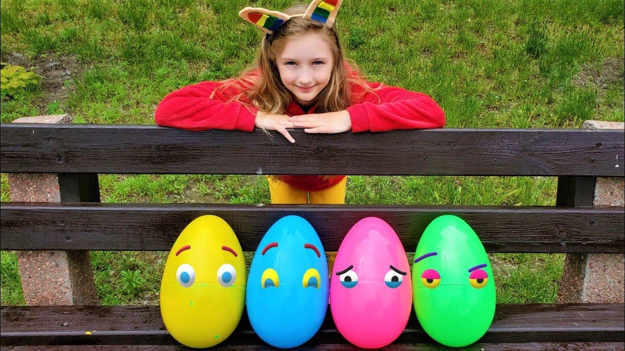 Супер Полина — Polina learn colors with magic eggs
