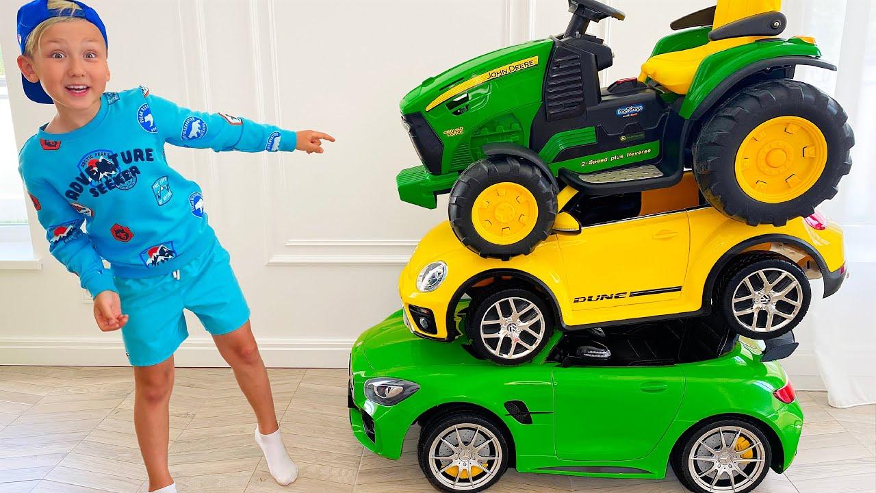 Супер Сеня — Сеня и его Сломанные Машинки для детей