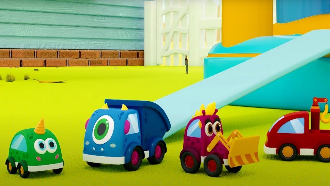 Теремок ТВ — Песенка про машинки Мокас — Песенки для детей