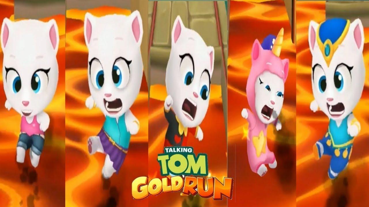 Ушастик Кидс — Talking tom gold  run Говорящий Том бег за золотом vs Говорящая Анджела Talking Angela