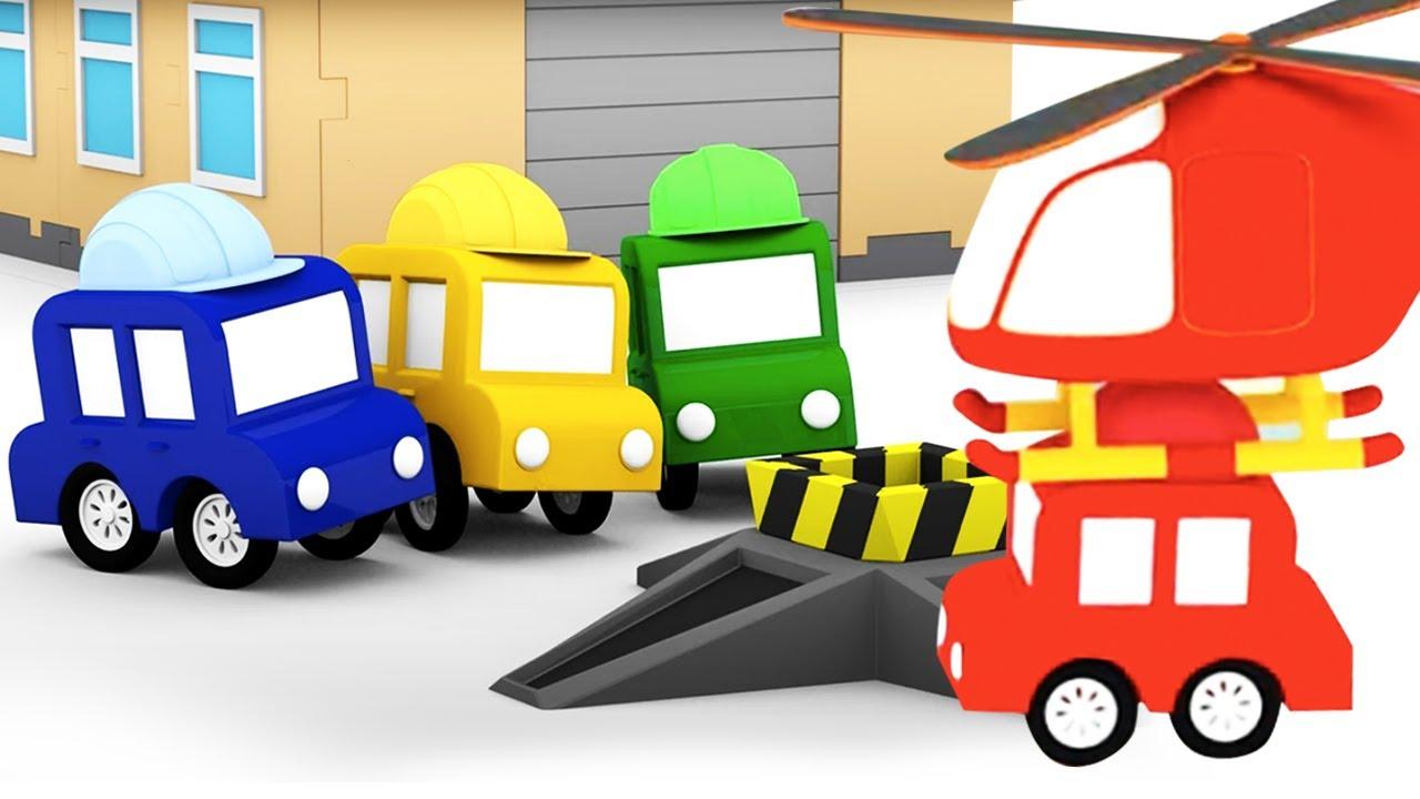 ДиДи ТВ — Мультики для детей: 4 машинки собирают башенный кран! Сборник мультфильмов для малышей