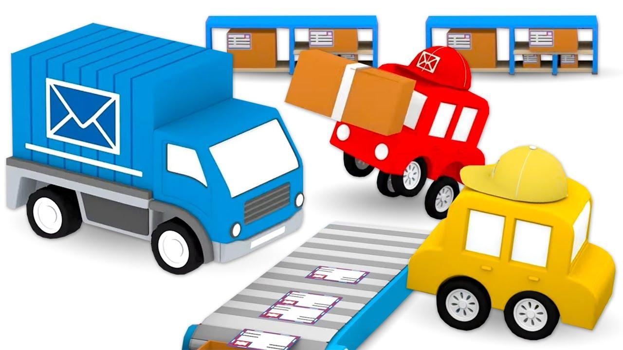 ДиДи ТВ — Мультики для детей: 4 машинки собирают почтовый грузовик! Сборник мультфильмов для малышей про цвета