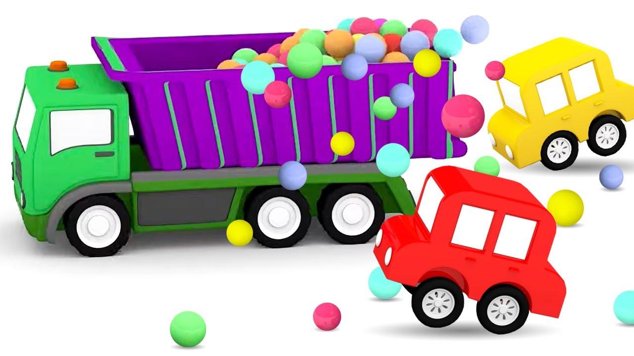 ДиДи ТВ — Мультики для детей: 4 машинки и грузовик с шариками! Сборник мультфильмов для малышей