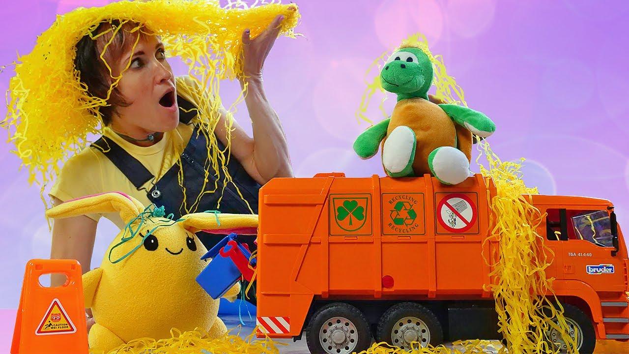 Капуки Кануки — Мультик про Мусоровоз и игрушки — Давай почитаем и Маша Капуки Кануки. Видео для детей