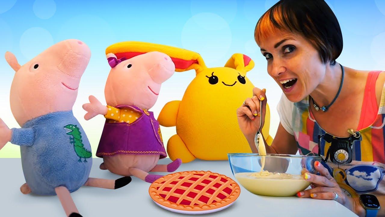 Капуки Кануки — Свинка Пеппа и Лаки готовят шарлотку. Рецепты с Машей Капуки Кануки. Видео с игрушками