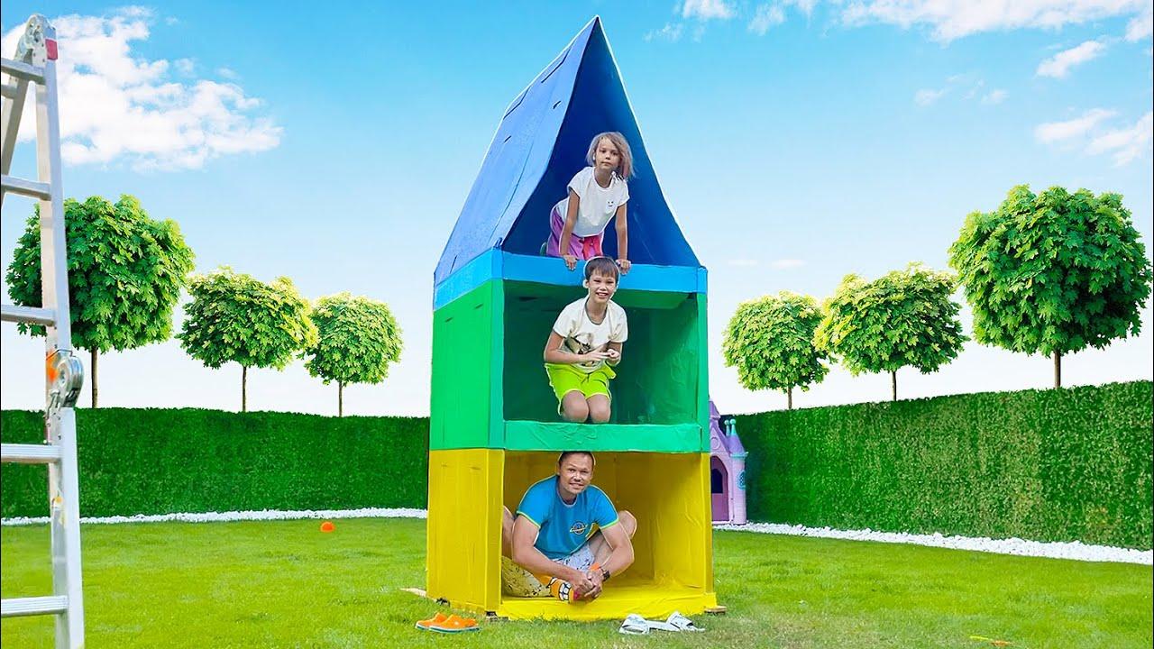 Мистер Макс — Построили 3х этажный Дом из картона