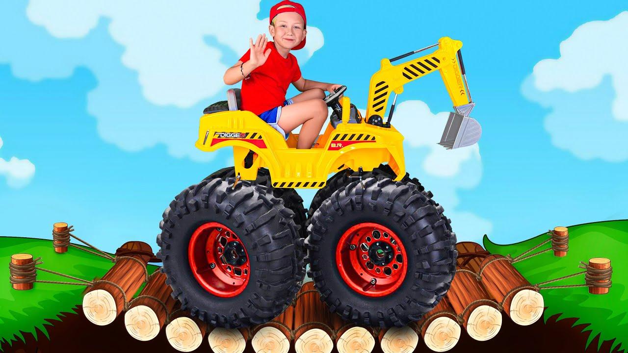 Супер Сеня — Senya Playing with POWER Wheels Tractors