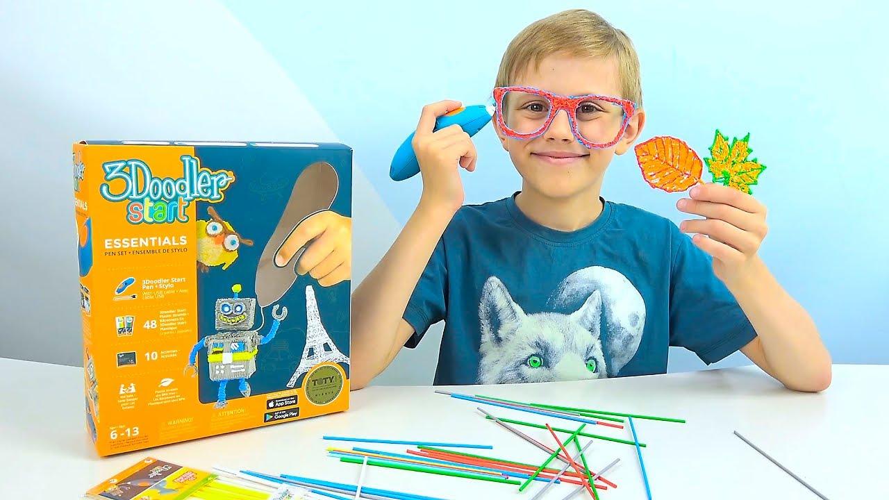 3D ручка 3Doodler Start для детского творчества. Даник и развивающие игрушки для детей.