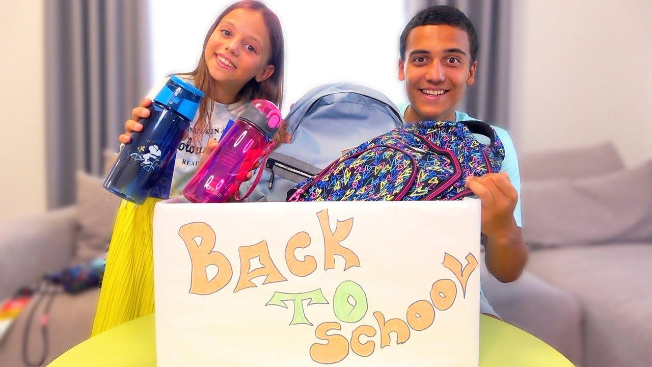 Back to School ПАПА управляет нашей Канцелярией Челлендж My little Nastya
