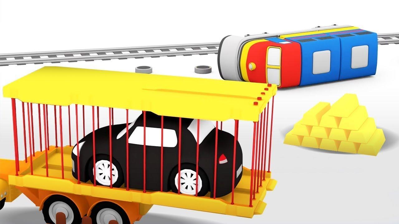 ДиДи ТВ — 4 машинки и Поезд с золотом! Детские мультики про машинки. Развивающие мультфильмы все серии подряд