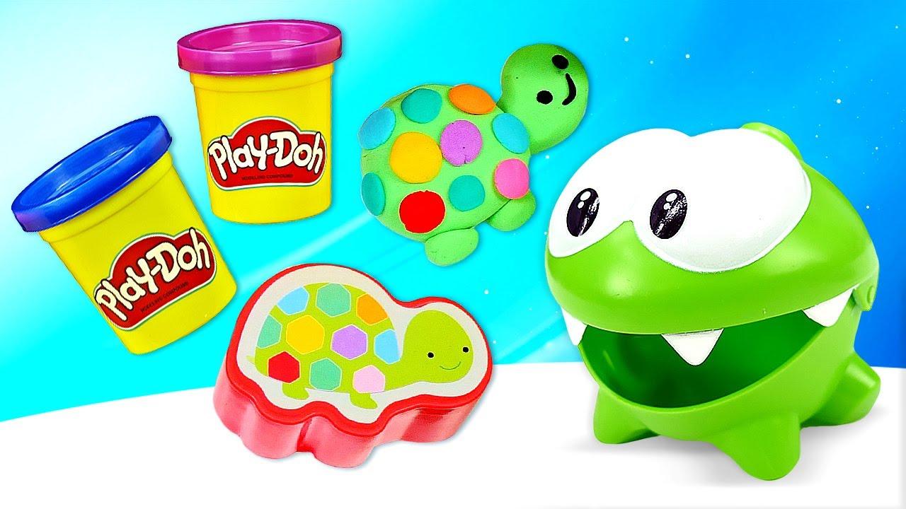 ДиДи ТВ — Ам Ням лепит черепашку из Плей До! Развивающие мультики для самых маленьких про игрушки