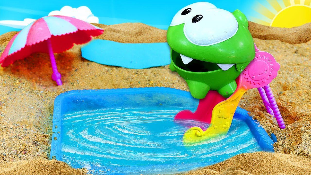 ДиДи ТВ — Ам Ням сделал бассейн в песочнице! Развивающие мультики для самых маленьких про игрушки