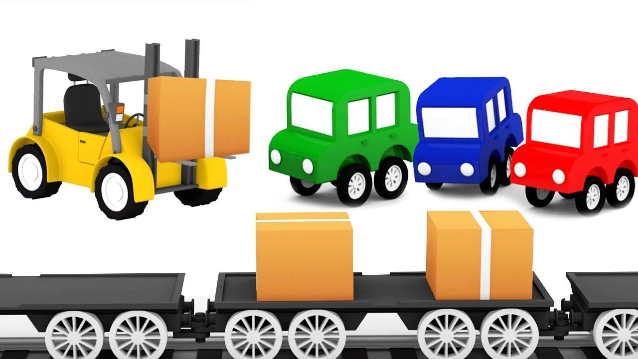 ДиДи ТВ — Мультики для детей: 4 машинки собирают погрузчик! Сборник мультфильмов для малышей