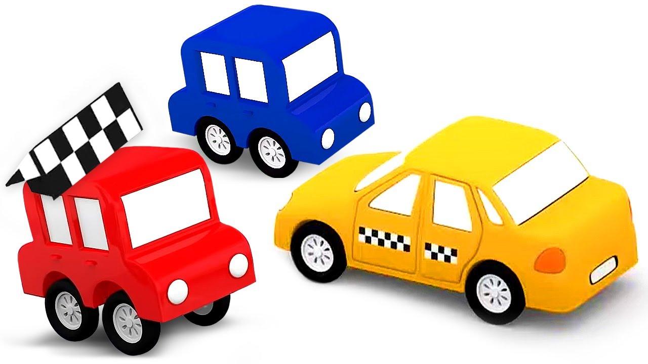 ДиДи ТВ — Мультики для детей: 4 машинки собирают Такси! Сборник развивающих мультфильмов для малышей