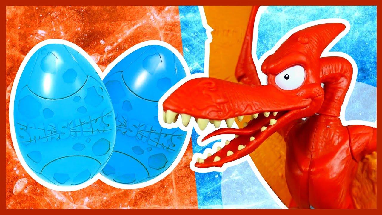 Каляка Маляка — Гигантское яйцо динозавра #02. Нашел САМЫЙ РЕДКИЙ сюрприз.  Smashers Dino Ice Age Surprise.