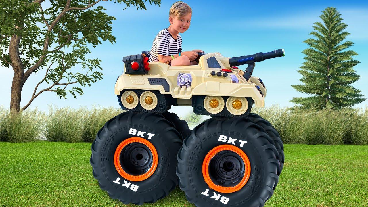 Супер Сеня — Senya Ride on Tank and Tractor with Giant Wheels