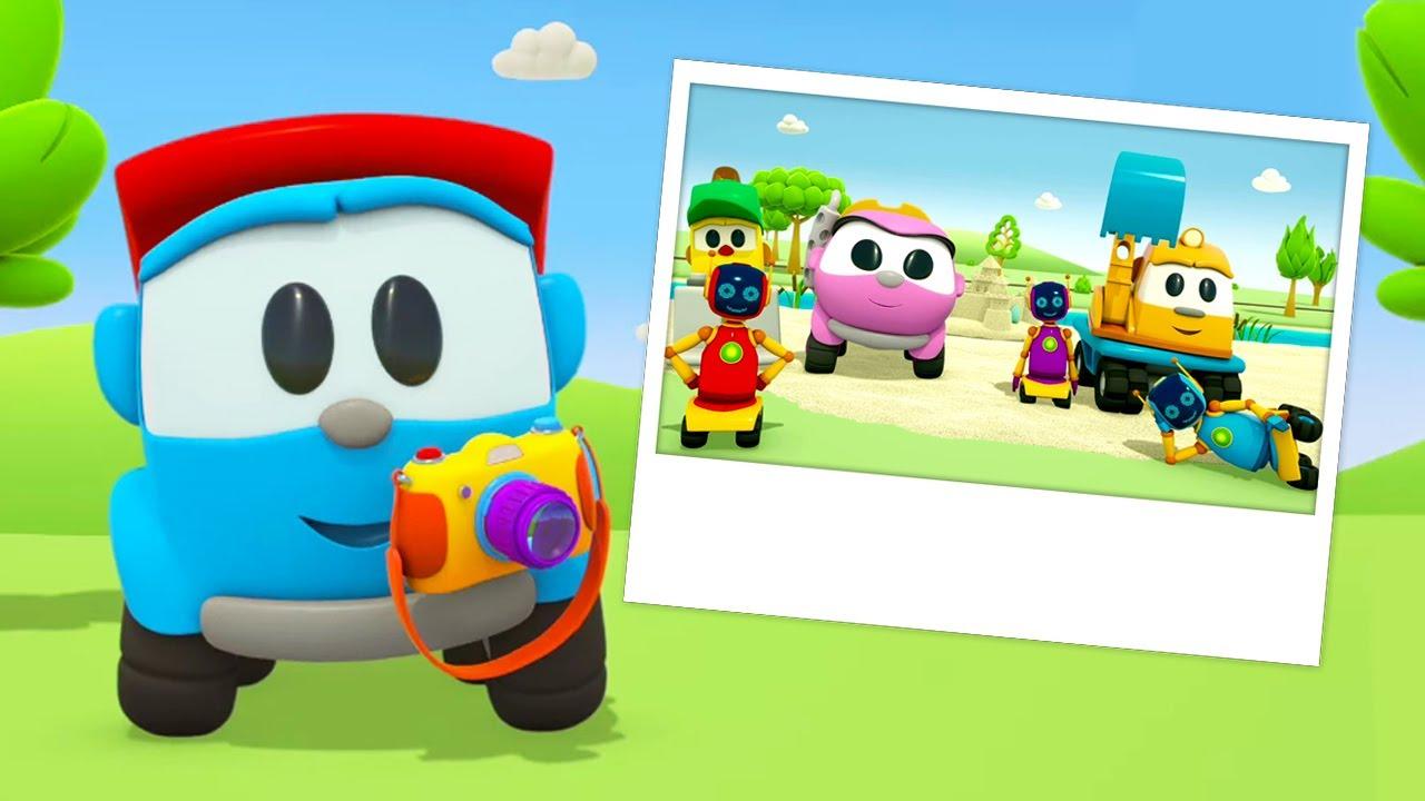ТВ Деткам — Развивающие мультики для малышей. Грузовичок Лева собирает фотокамеру и делает новую карусель