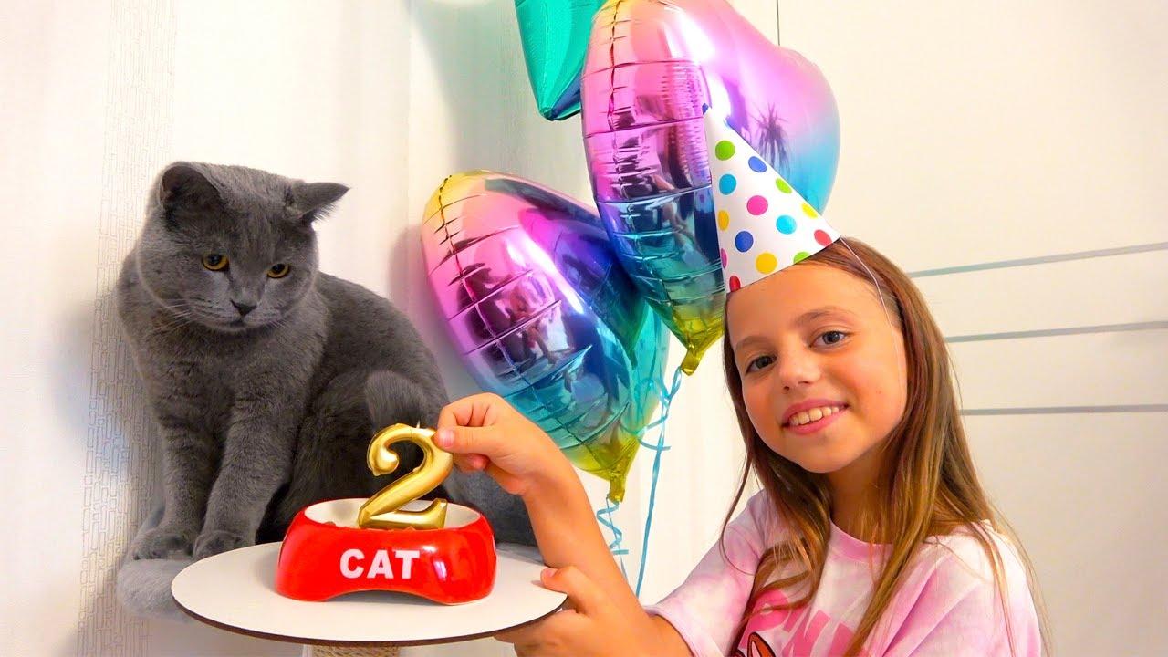 День РОЖДЕНИЯ нашего питомца Тиму 2 года Подарки My little Nastya