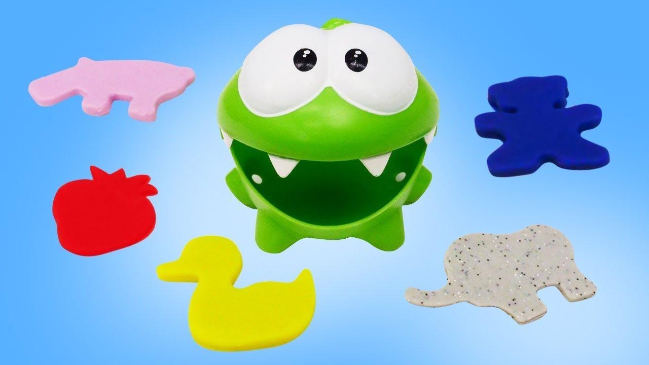 ДиДи ТВ — Ам Ням играет в формочки с Плей До! Видео для детей с игрушками в бассейне
