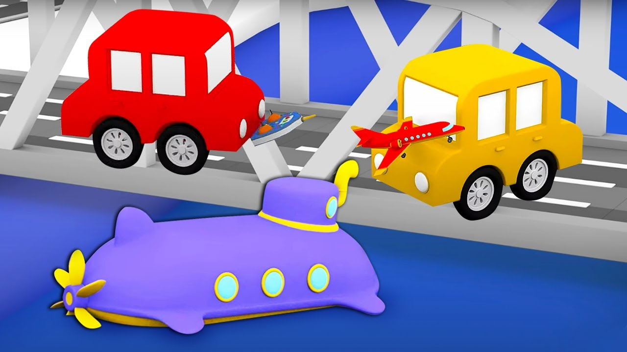 ДиДи ТВ — Машинки и подводная лодка! Развивающие мультики для детей про 4 машинки — все серии подряд