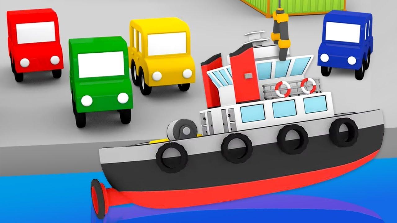 ДиДи ТВ — Мультики для детей: 4 машинки собирают баржу! Сборник мультфильмов для малышей — Новые серии