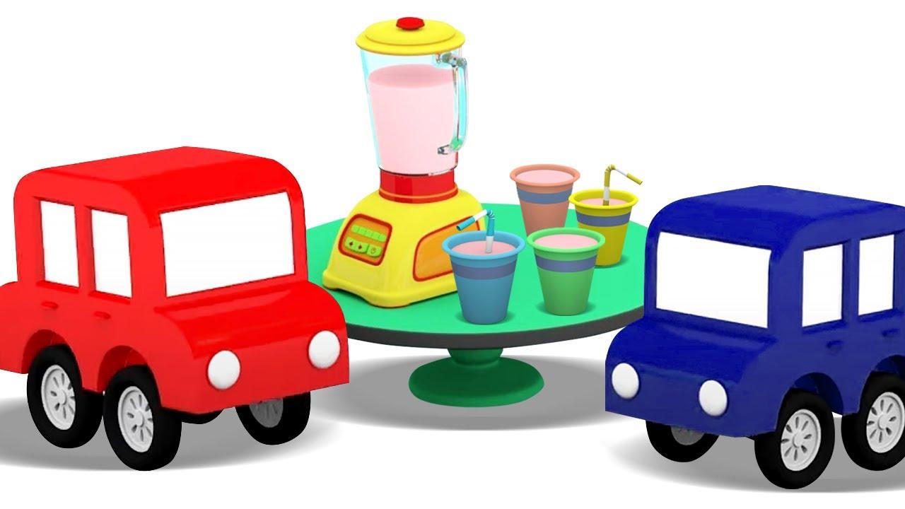 ДиДи ТВ — Мультики для детей — 4 машинки готовят коктейль — Развивающие мультики про машинки все серии подряд