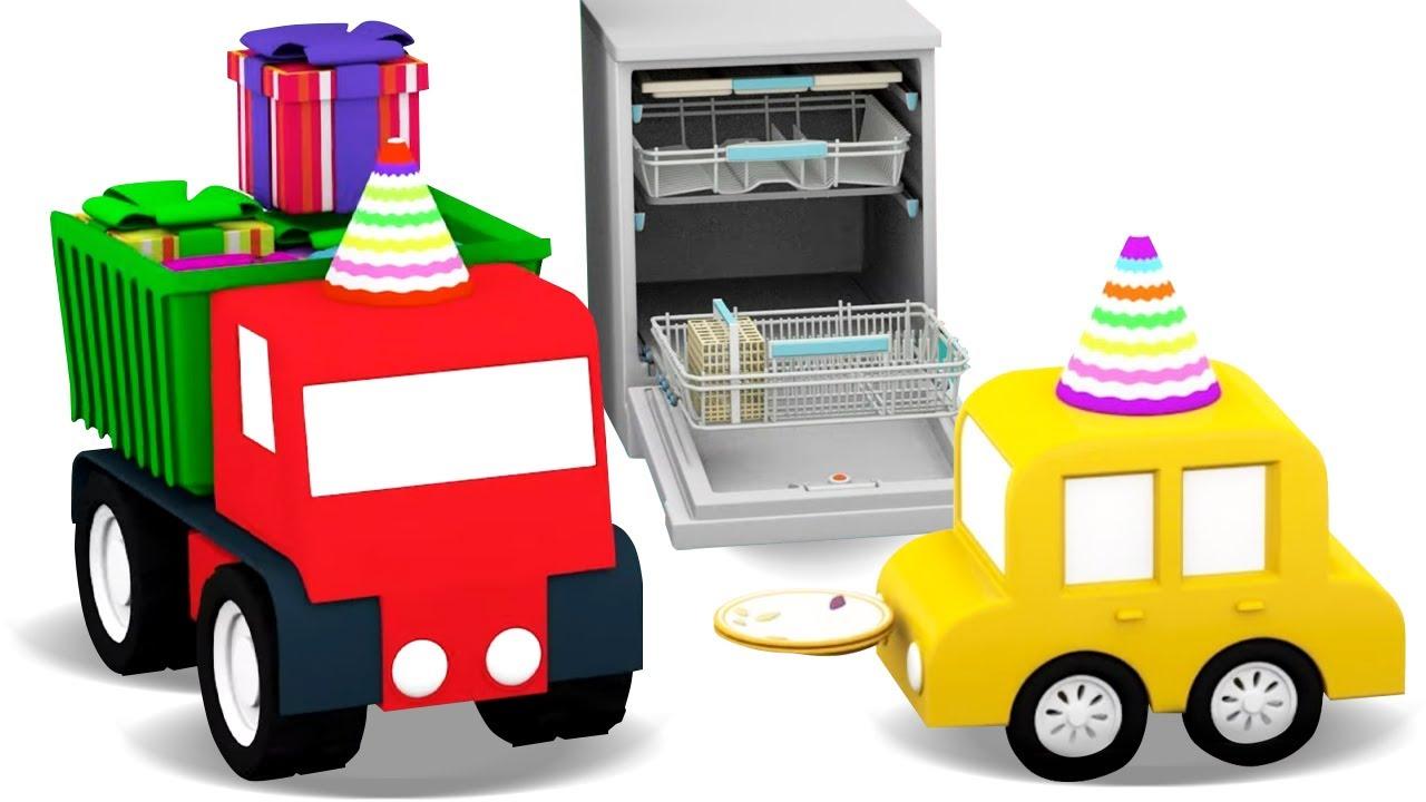 ДиДи ТВ — Мультики для малышей — 4 машинки и посудомоечная машина — Развивающие мультфильмы — Новые серии
