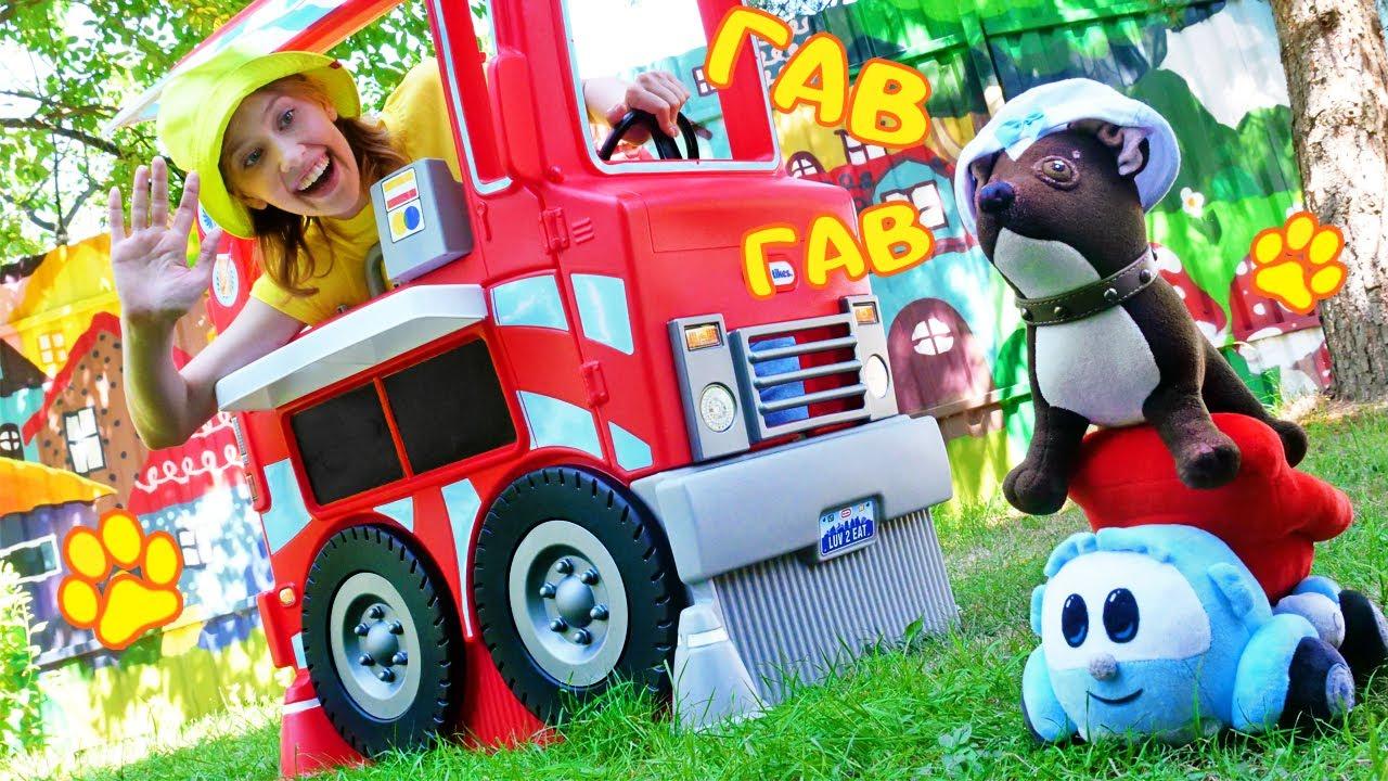 Как МАМА — Детское видео игрушки. Собачка Шоколадка и Грузовичок Лева играют в магазин КАК МАМА! Игры для детей