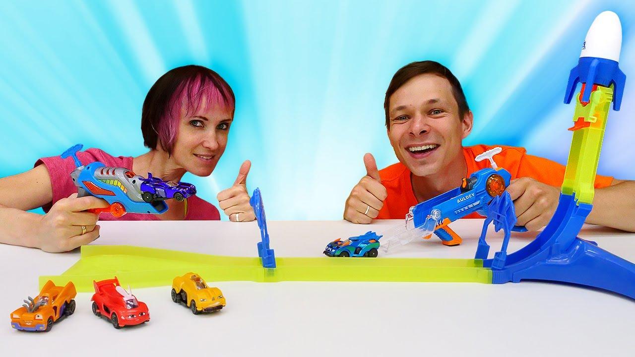 Капуки Кануки — Легенды Спарка: улетные гонки! Маша и Федор устроили соревнование — Игры в машинки на Капуки Кануки