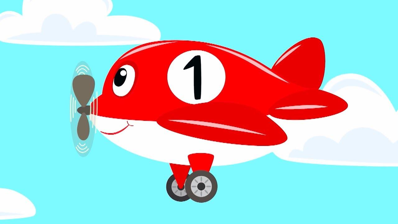 КОТЭ ТВ ✈️ Десять самолётиков ✈️ Веселая песня мультфильм про самолетик для детей