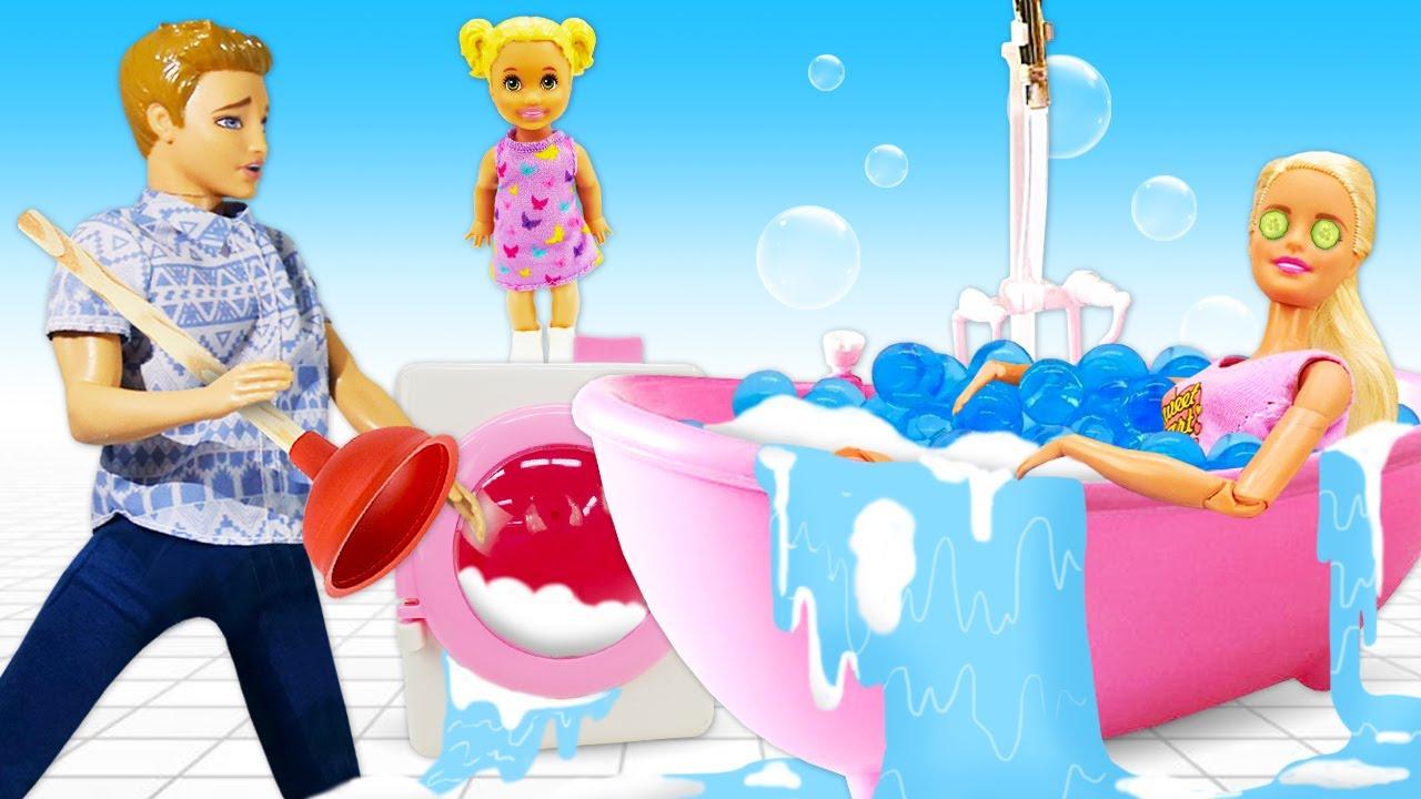 Лучшие Подружки — Кен и Барби в видео сборнике — Дом Мечты куклы затопило! – Смешные видео игры одевалки куклы Barbie