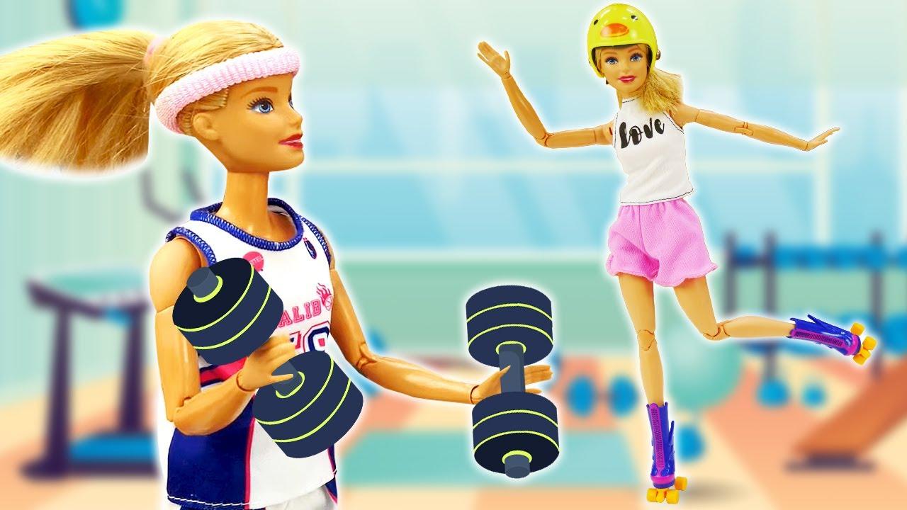 Лучшие Подружки — Кукла Барби занимается спортом! — Весёлые игры одевалки для девочек. Сборник видео куклы Barbie