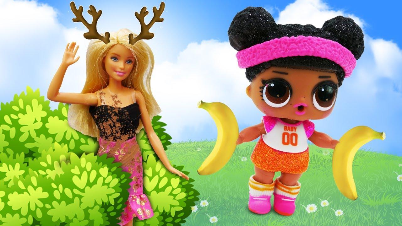 Лучшие Подружки — Смешные видео — Кукла Барби попала в неприятности! — Куклы Лол в видео игры одевалки для девочек