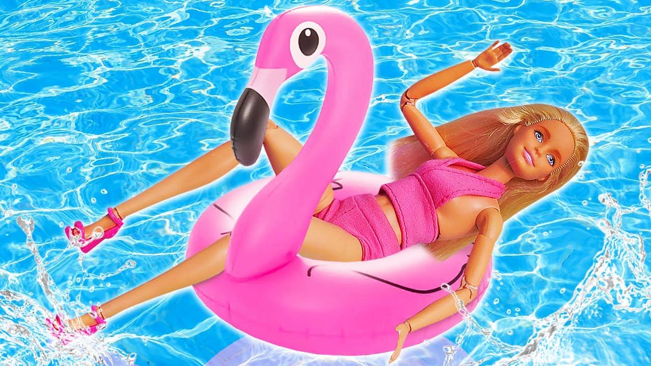 Лучшие Подружки — Видео куклы — Барби отдыхает у Бассейна! Готовим еду для Barbie! — Весёлые игры одевалки для девочек