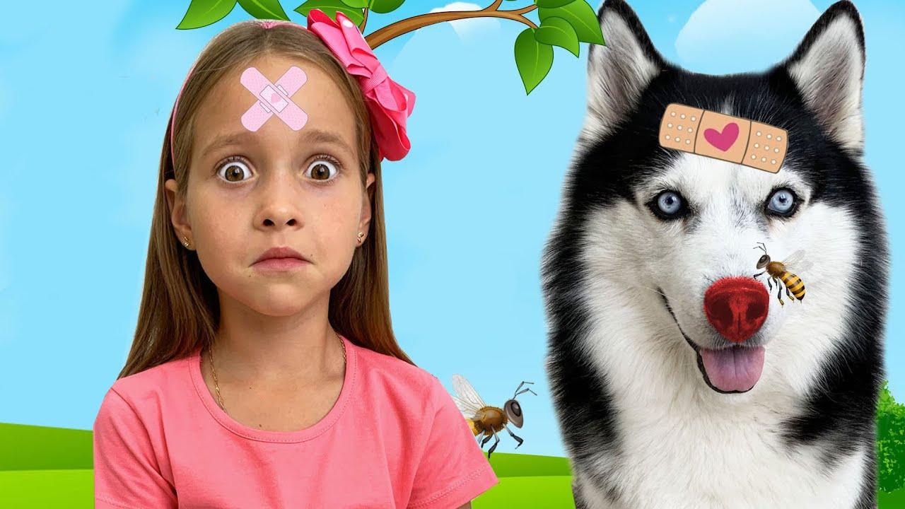 Маленькая Мисс София — Fun the Boo Boo story on the Playground!! София весело играет с собакой
