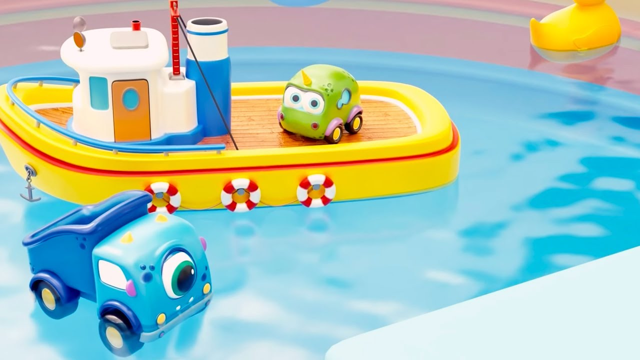 Машинки Мокас 🚕 Бассейн во дворе 🚙 Развивающие мультики для детей и малышей 🚗