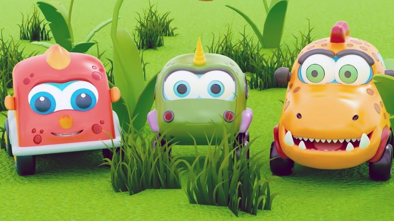 Машинки Мокас 🚕 Поиск яиц (Пасха) 🚙 Развивающие мультики для детей и малышей 🚗