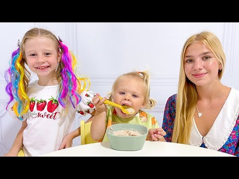 Nastya and Maggie try to be good babysitters