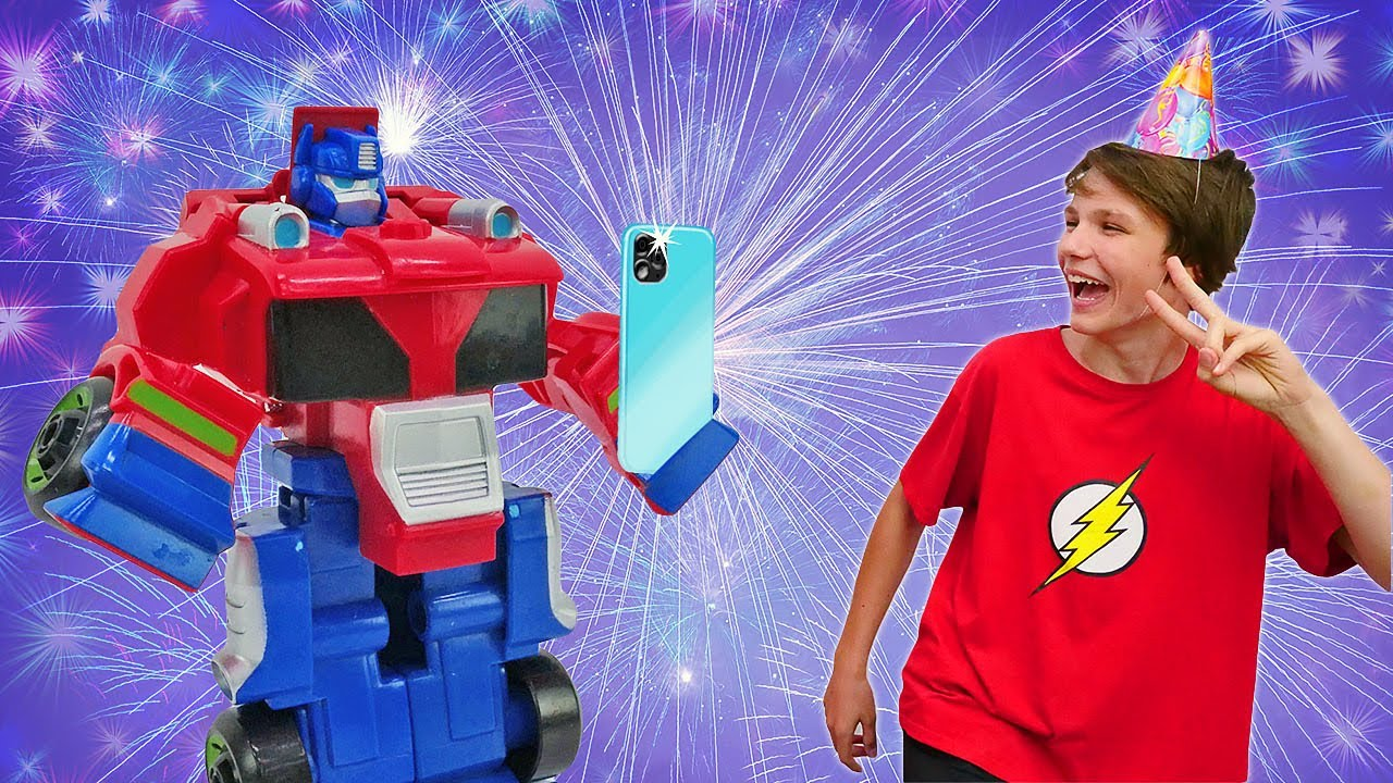 ПАПА тайм — Видео приколы — Поздравление для Железного Человека! — Супергерои и Трансформеры игры битвы онлайн