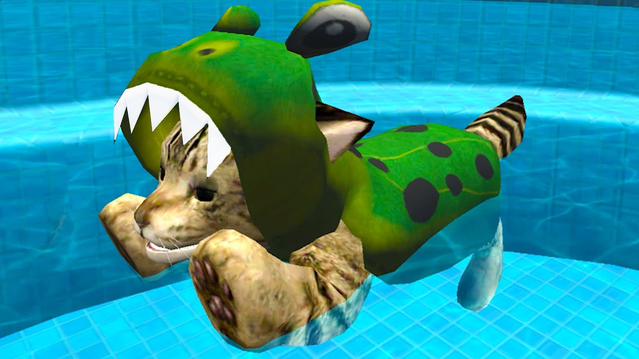 Пурумчата — Симулятор Кота #15 Кид спас Лошадь. Бассейн для котов в Cat Simulator Kitty Craft на пурумчата