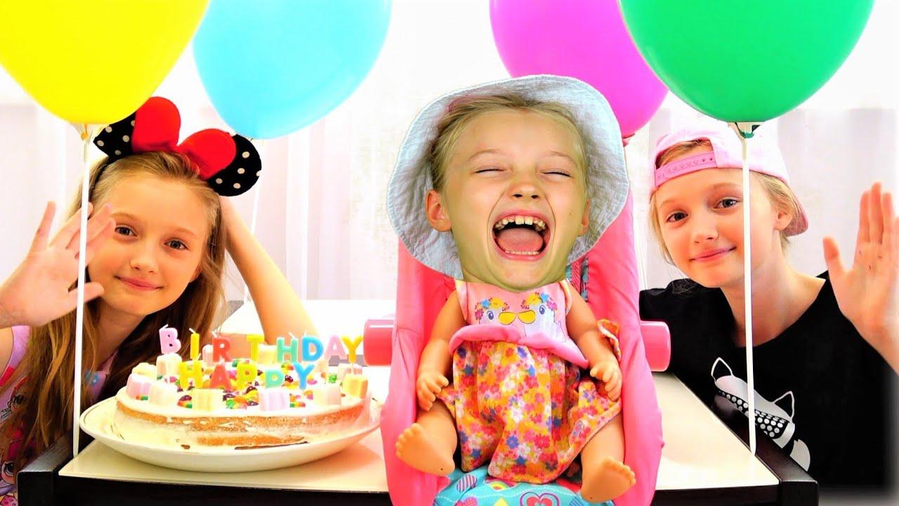 Супер Полина — Полина и ее торт на День Рождения