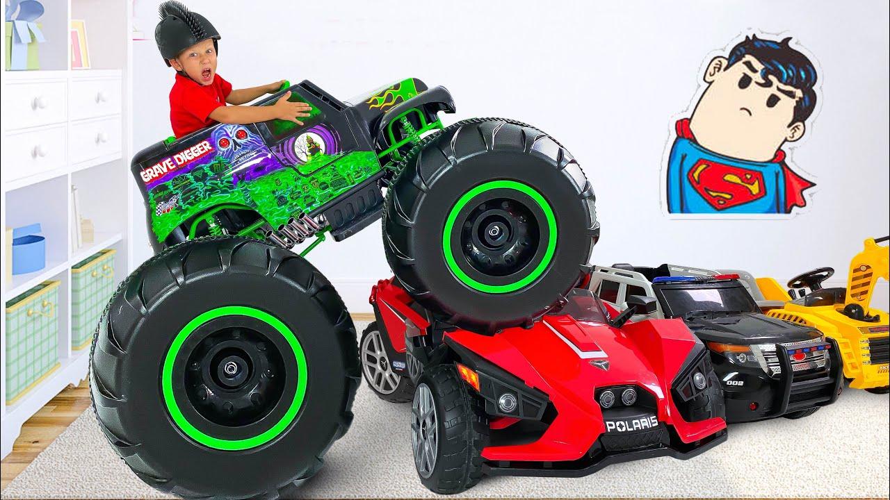 Супер Сеня — Сеня и Машинки с Гигантскими Колесами