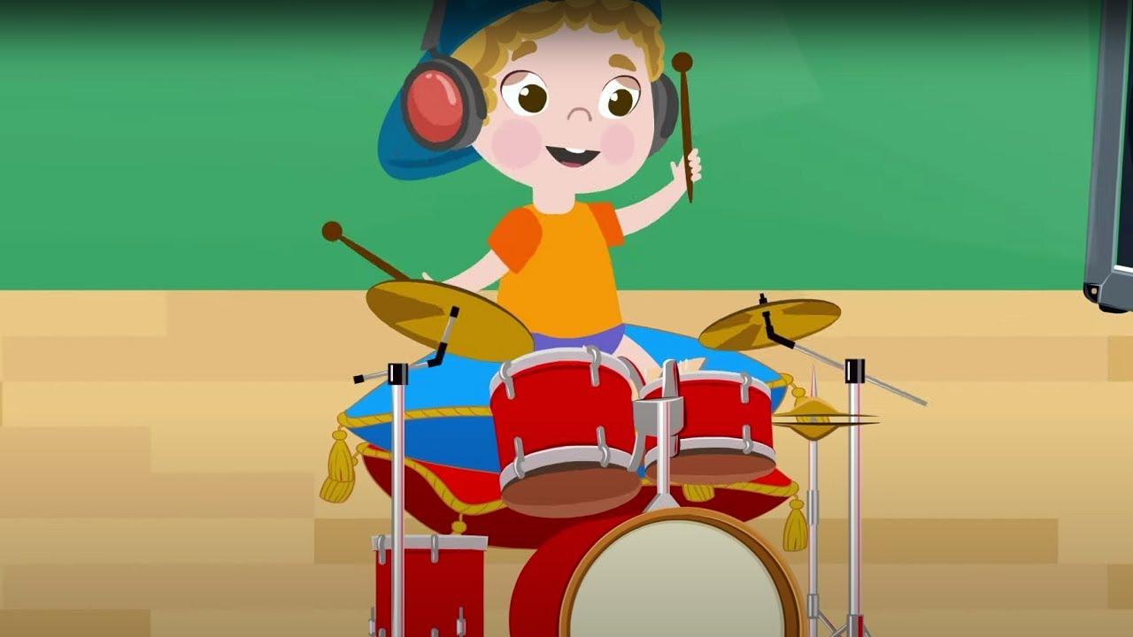 Теремок ТВ — Музыкальные инструменты — Зен и Ден — Зебра в клеточку — Веселые детские песенки