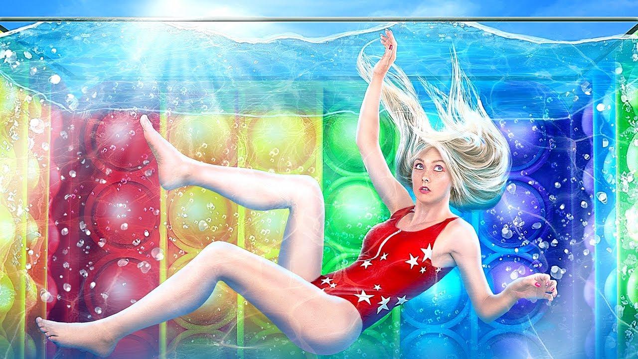 Трум Трум — Мы застряли в гигантском Pop It аквариуме! Подводный челлендж!