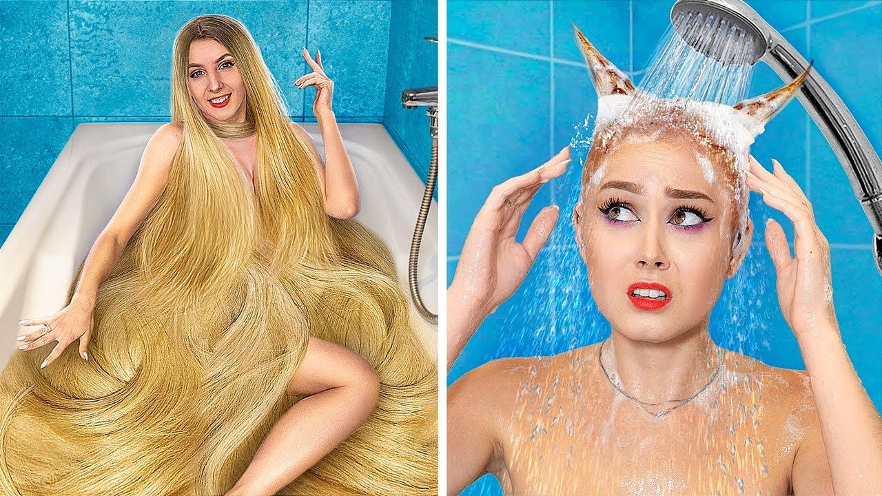 Трум Трум — Проблемы тонких и густых волос! Богатая девушка vs бедная девушка!